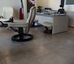 Pavimento effetto pietra per ufficio direzionale